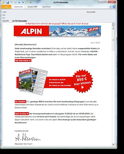 Olympia Verlag ALPIN E-Mailing