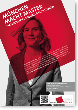 Plakat Hochschüle München Master Digitales Publizieren