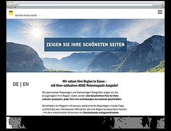 Screenshot WdW KW29 ADAC Reisemagazin Landingpage