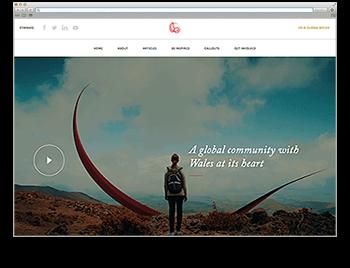 Screenshot der Startseite von The Global Welsh - Website der Woche 52 2017
