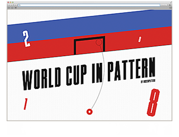 Website der Woche KW 27 World Cup in Pattern