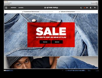 Website der Woche 28 2018 G-Star Jeans etc.