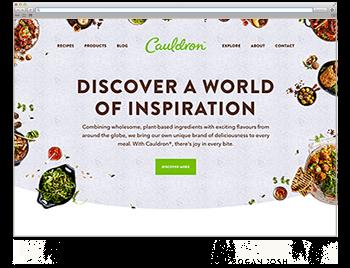 Unsere Website der Woche Screenshot WdW KW43 Cauldron Foods