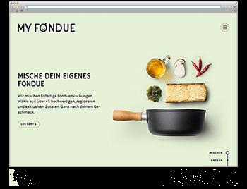 Unsere Website der Woche KW51 My Fondue