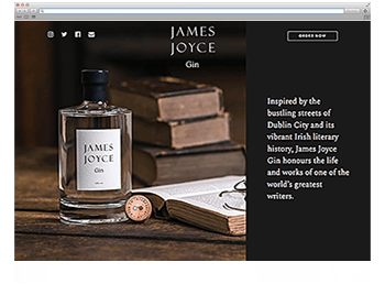 Website der Woche KW 03 James Joyce Gin