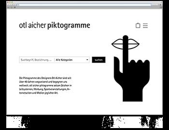 Unsere Website der Woche Screenshot WdW KW42 Otl Aicher Piktogramme
