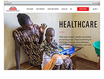 Unsere Website der Woche KW46 19 World Bicycle Relief
