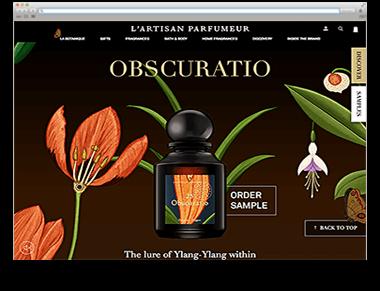 Website der Woche R&R KW 40 dunkles Bild mit Blumen Parfum-Site