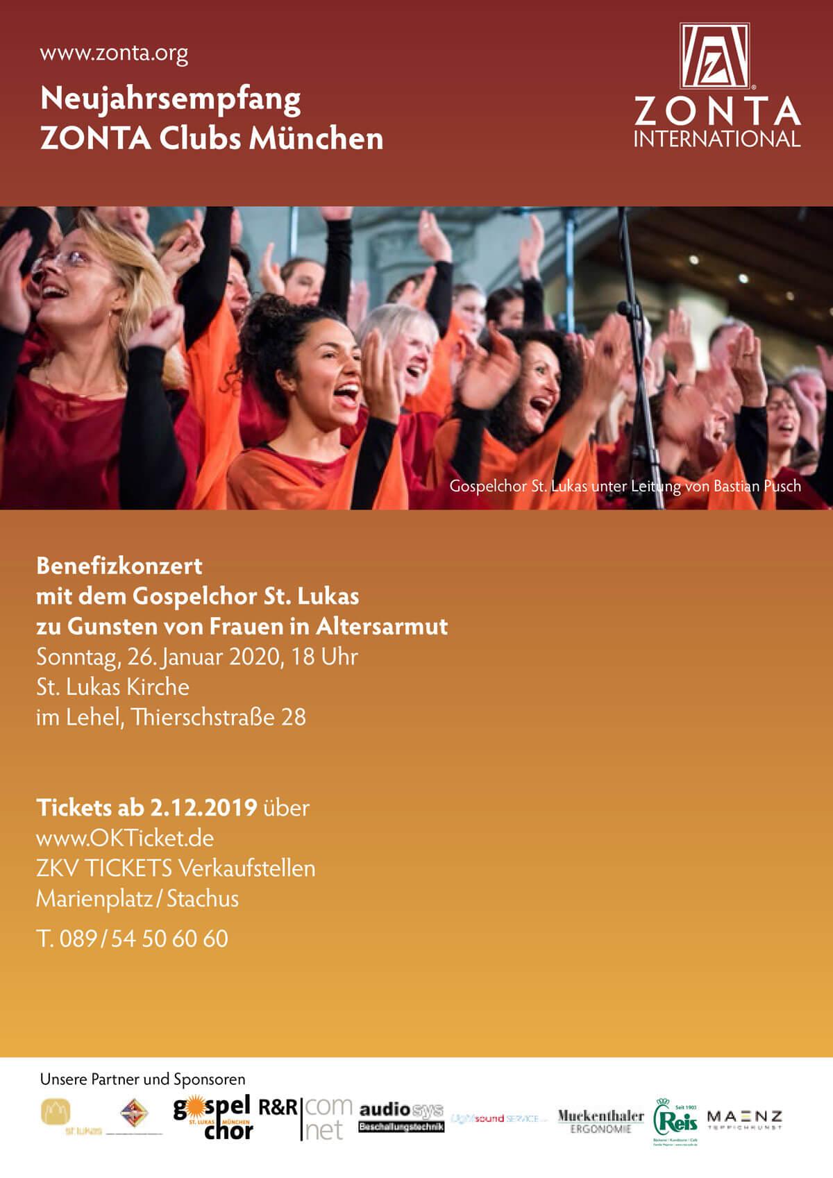 ZONTA München Neujahrsempfang 2020 Plakat