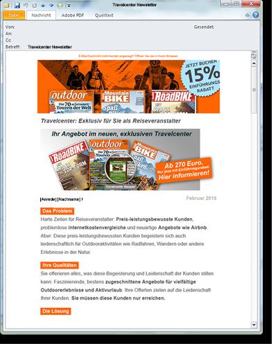 Motor Presse Stuttgart E-Mailing Travelcenter