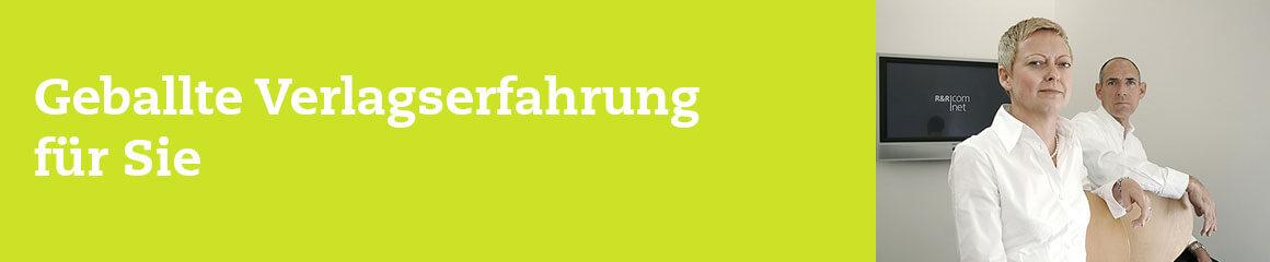 Header-Bild grün für «Geballte Verlagserfahrung für Sie»