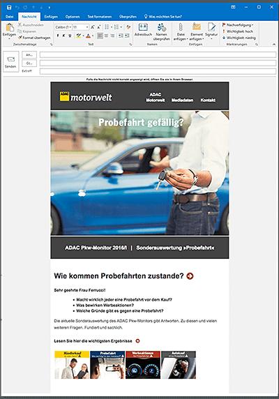 ADAC Verlag: Mailing ADAC Pkw-Monitor