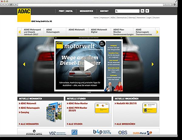 ADAC Verlag Website: Responsive, Typo3