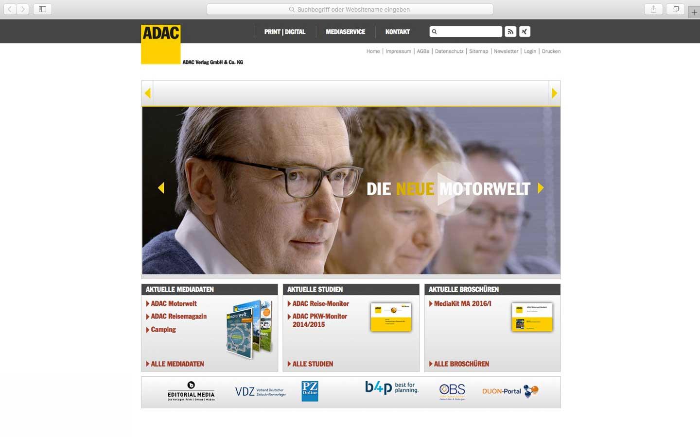 ADAC Verlag Anzeigen Typo3