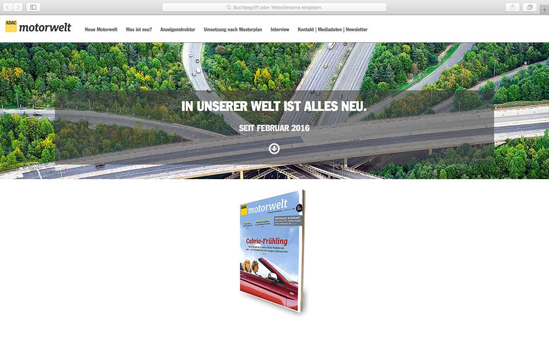 ADAC Motorwelt Onepager