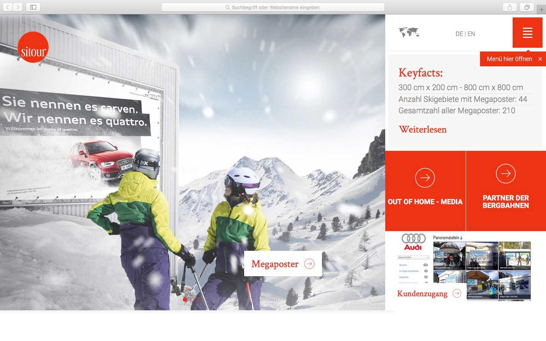 sitour Werbung in den Bergen TYPO3 Landingpagekonzepte