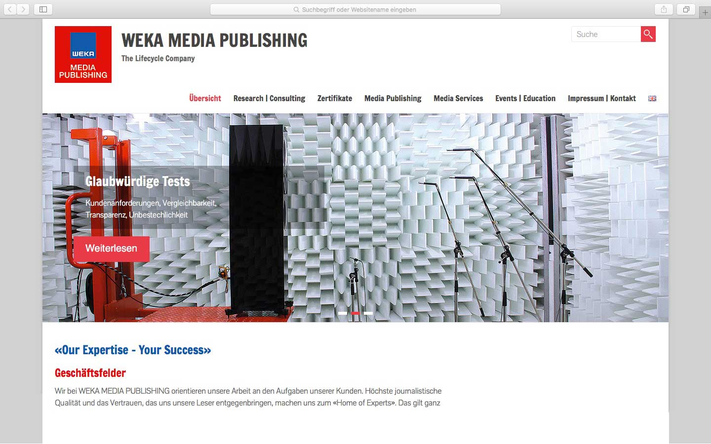 Weka Media Publishing Audio WordPress Aktionswebsite