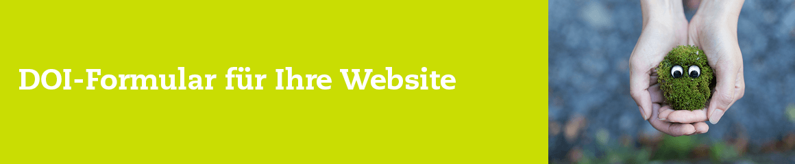 DOI-Formular für Ihre Website